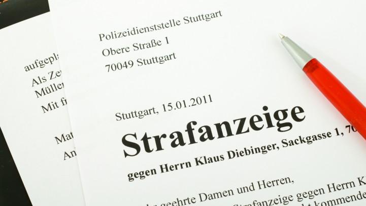 Strafbefehl-Online: Formular