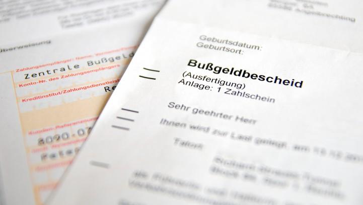 Bußgeldbescheid-Online: Formular